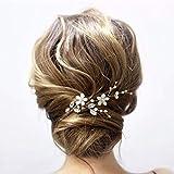 Edary Horquillas para el pelo de novia de boda, con diamantes de imitación, accesorio para el pelo para mujeres y niñas