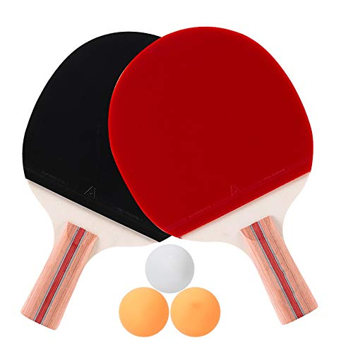 Lowest Price! Hewen-Ping Pong Set Table Tennis 2 Player Set with 2 Rackets, 3 Balls, for Trainers, A...