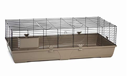 Beeztees Kaninchenkäfig Hamsterkäfig Nagerheim Nagerkäfig Mokka, 140 x 68 x 43 cm