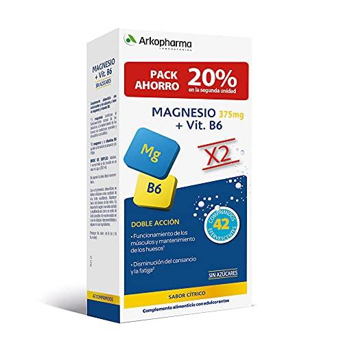 Arkopharma Magnesio 375 Mg + Vit B6 Doble Envase 42 Comp (pack Ahorro 20% En La 2º Unidad)