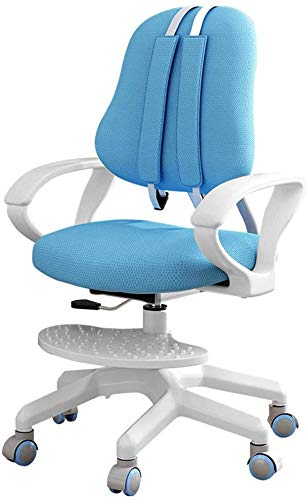 Kids Desk Chairs, Kids Computer Chair, Rolling Chair, Multi-Function Adjustable Height Children's Learning Chair, Ergonomic Sitting Posture Correction Computer Chair Suitable for 3-18 Years Old (Blue)