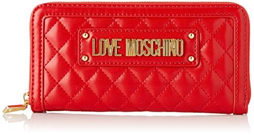 Love Moschino Quilted Nappa Pu, Portafoglio Donna, Rosso (Rosso), 15x10x15 cm (W x H x L)