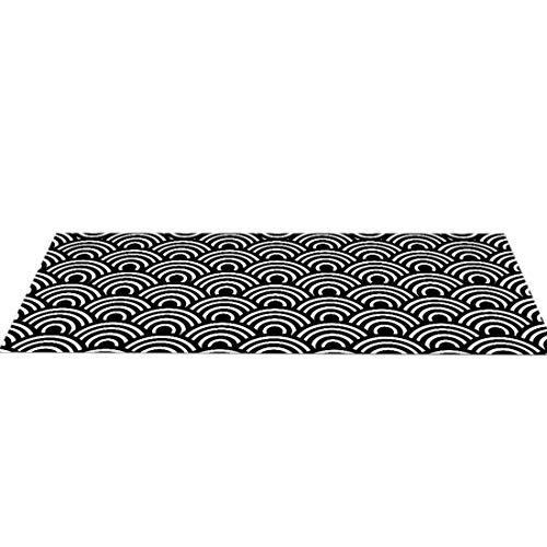 Tongliang Felpudo de Entrada Alfombrilla Antideslizante Alfombra Exterior Lavable a Máquina para Patio Cocina Pasillo Puerta Trasera Delantera #13 S 40 * 60cm