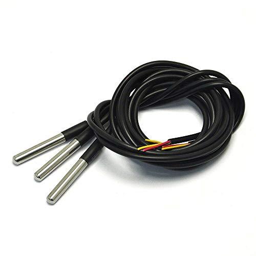 Sensor de temperatura digital 3PCS Chip Ds18B20, sonda de