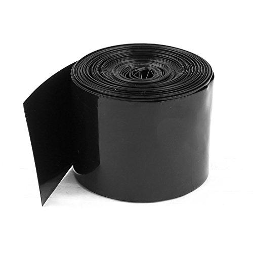 sourcingmap 50mm/30mm PVC calore limitatore intubante nero 5m 16.4ft per 2 x 18650 batteria