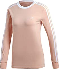 Adidas 3 Stripes Camiseta de Manga Larga Algodón para Mujer