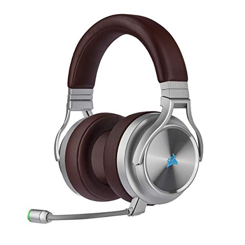 Corsair Virtuoso RGB Wireless SE Gaming Headset - High-Fidelity 7.1 Surround Sound W/Broadcast Quality Microphone, Memory Foam Earcups, 20 Hour Battery Life, Works w/PC, PS5, PS4 - Espresso (Renewed)