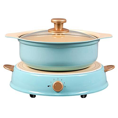 Réchaud électrique multifonction de grande capacité, réchaud en céramique pour cuisinière à induction 3L, poêle électrique à 6 rapports, position 2000W, adapté au dortoir de cuisine familia