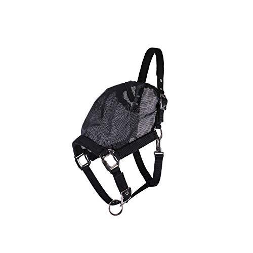 netproshop Kombination Halfter mit Fester Fliegenmaske ohne Ohren Schwarz Pony/Cob/Full, Groesse:Full, Farbe:Schwarz