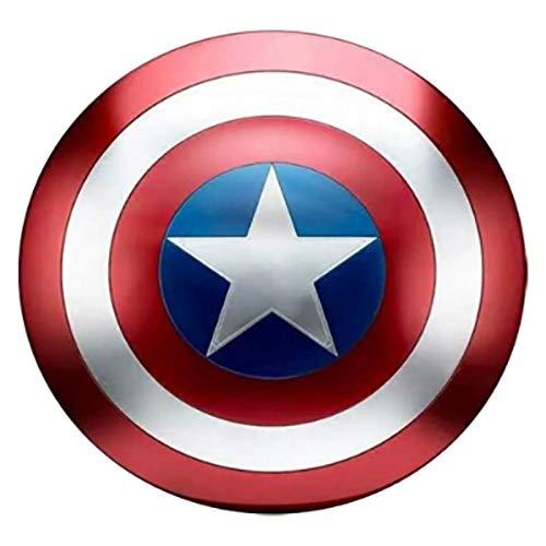 Captain America Shield Tous Métal 1 à 1 47.5cmÉdition de Film Avengers Accessoires de Poche Accessoires Modèle Décoration Peut contenir des Accessoires de Cosplay