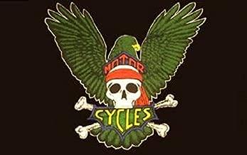 U24 vlag motorcycles motorfiets doodskop skull 90 x 150 cm