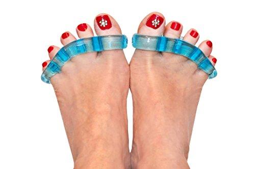 CareforYou Séparateurs d'orteils et écarteurs thérapeutiques – Détendez vos pieds – Taille unique