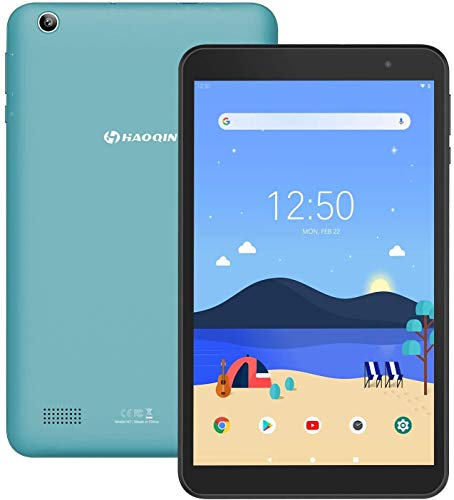 Tablet 8-Pollici Android 9.0 32GB - HAOQIN H8 Pro Tablet PC 2GB RAM Quad Core HD IPS Display WiFi Bluetooth Google Certified (Blu)