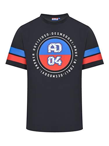 Ducati Corse Andrea Dovizioso T-Shirt Gros 04 Blau MotoGP Offiziell 2020