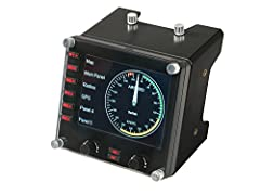 Pro flight information panel is a true multi-functional device Colorful 3.5-inch LCD screen seamlessly integrates into flight sim software. The Instrument Panel automatically updates and reacts to software events, giving accurate, real-time access to...