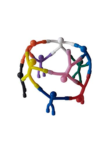 MagMen All in one Fun Flexible Magnetic Men {10 Pack} Refrigerator Magnets, Key Holder, Locker Decoration, Fidget, Filling Cabinet, Workspace Decoration. Only Your Imagination Needed.