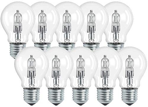 10x MARKE LEDMAXX Halogen Birnenform 42W=53W 629lm E27 klar warmweiß dimmbar - Energieeffizienzklasse C