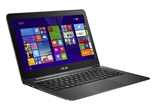 ASUS Zenbook UX305FA-ASM1 Laptop (Windows 8.1, Intel 5th Gen Core M-5Y10 0.8GHz, 13' LED-lit Screen, Storage: 256 GB, RAM: 8 GB) Grey (Renewed)