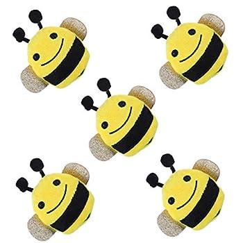 POPETPOP 5 Pcs Cataire Chat Jouets en Forme d'abeille en Forme De Chaton en Peluche Jouets Chat À Mâcher Jouet Jouet Interactif De Balle Jouet pour Chaton Intérieur Extérieur Chaton Jouet