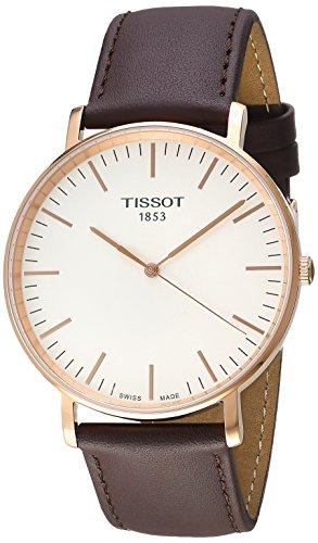 Tissot Herren Analog Quarz Everytime Large Armbanduhr mit Leder Armband T1096103603100