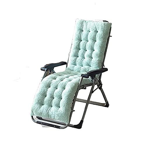 ZBBN Sun Lounger Kissenauflagen Lounge Chair Kissen Velvet Thicken Armchair Sitzkissen Bürostuhl Matratze Massagekissen (Farbe: Hellblau, Spezifikation: S (130x50x12cm))