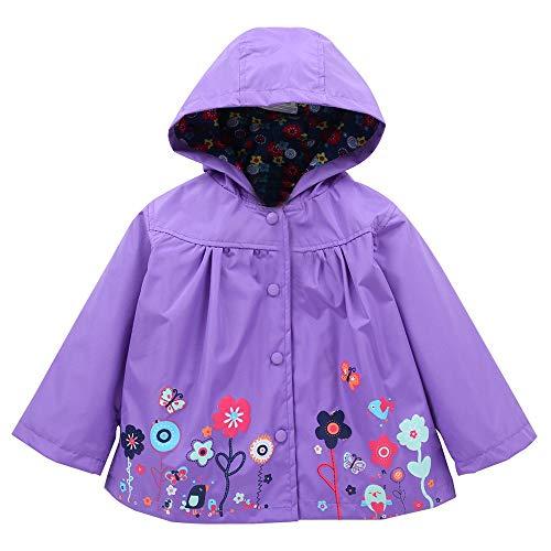 Kobay Baby Girl Outerwear Girls Clothe Jacket Kids Raincoat Coat Hoode...