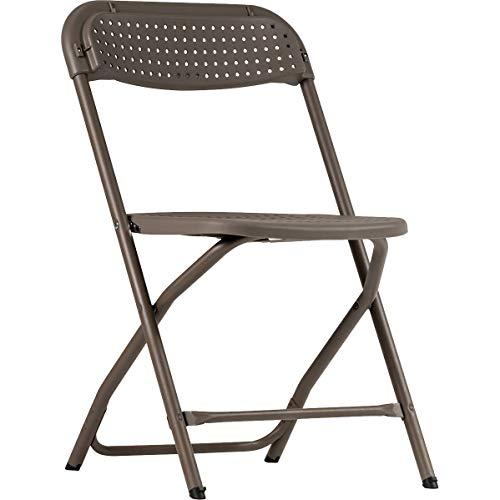 ZOWN Pack 4 sillas Plegables Big Alex, Polipropileno, Gris cálido, L50.9 x W50.3 x H80.6 cm