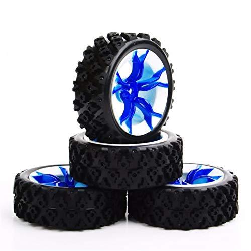 YanHui-LZC Conveniente neumático de Coche RC, MPNWB + PP0487 1:10 Escala neumáticos de Caucho y Llantas con 6 mm Offset Ajuste 1/10 RC Off Road Car Model Accesorios Juguetes para Modelo de Coche