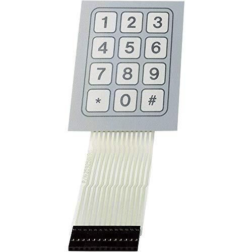 TRU Components SU709948 Folientastatur Tastenfeld Matrix 1 x 12 1 St.