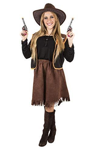 Costumizate! Disfraz de Vaquera Adulta Especial para Fiestas de Disfraces y Carnaval Talla Unica