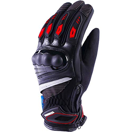 Winter Motorcycle Gloves Warm And Waterproof Men And Women Outdoor Windproof And Warm Motorcycle Touch Screen Riding Gloves-A98-Red-Xl