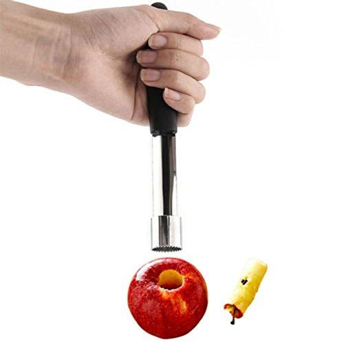 En acier inoxydable avec poignées Easy Twist Fruit Pomme Palis Kitchen Tool (couleur aléatoire)