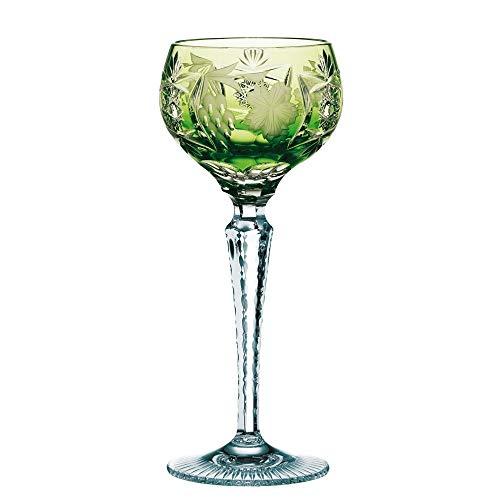 Spiegelau & Nachtmann, Weinglas mit Schliffdekoration, Kristallglas, 230 ml, Traube, 0035953-0, Reseda, Grün