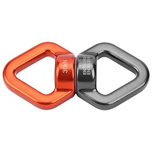 Columpio giratorio, dispositivo giratorio de escalada giratoria, columpio giratorio de seguridad al aire libre para campamento de yoga (naranja grisáceo)