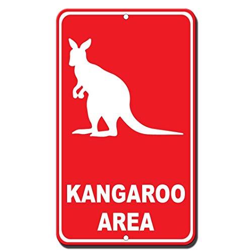 WENNUNA Pancarte Humoristique Kangourou en Aluminium 20,3 x 30,5 cm