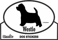 Westie ROUNDステッカー:ウェスティー 耐水性 シール Made in U.S.A [並行輸入品]