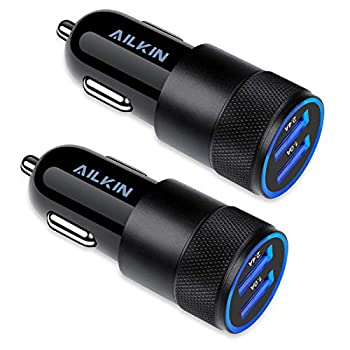 Car Charger [2Pack] 3.4a Fast Charge Dual Port USB Cargador Carro Lighter Adapter for iPhone X XR XS Max 8 Plus 7s 6s 12 11 Pro Max iPad Samsung Galaxy S21+ S10 Plus S7 j7 S10e S9 Note 8 LG GPS