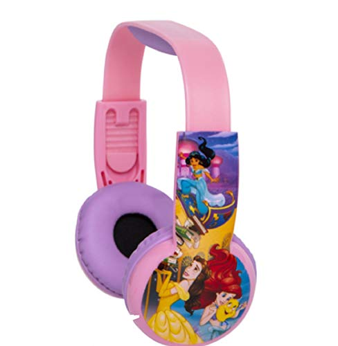 Tech 2 Go Llc Disney Princess Kids Safe Headphones with Built in Volume Limiting Feature for Safe Listening