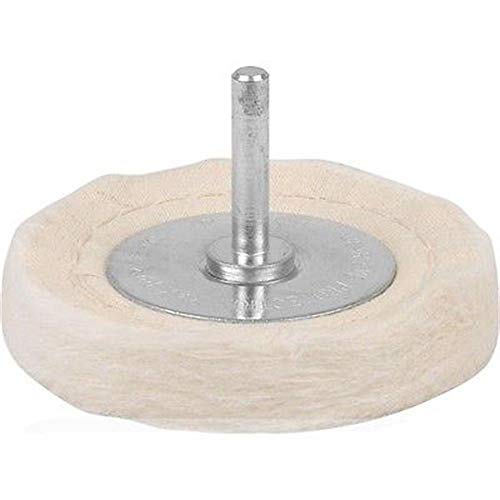 Polishing Wheel, Cotton Buffing Wheel Pad Mop for Metal Aluminum/Steel/Chrome/Alloy Wood Plastic Glass Ceramic, Cone/Column/Dome/Disc Drill Buffer Attachment with 4' Shank