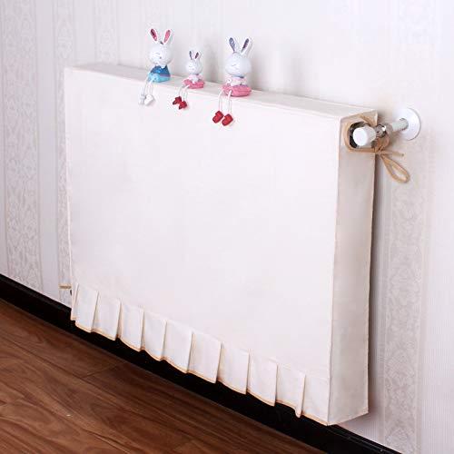 FHMHJH Radiador Cubierta De Polvo, Simple Funda De Tela Y De Época Moderna Personalizada con Todo Incluido Calefacción Ennegrecido Cubierta Antipolvo Equipo a Prueba de Polvo