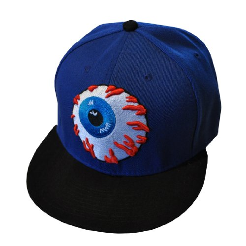Globe Oculaire Bleu et Noir Hip Hop Casquette Réglable (Eyeball Snapback Cap)