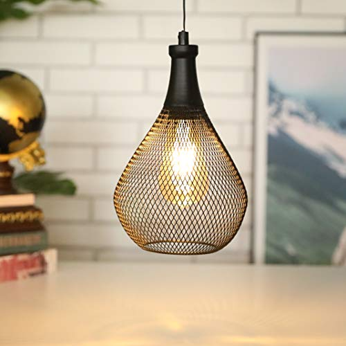 JHY DESIGN 28 cm hohe Hängelampe Batteriebetriebene Akku-Lampe für Schlafzimmer Garten Bars Partys Patio drinnen draußen