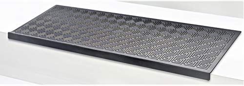 5 Stck Stufenmatte Trapa schwarz Jet-Line Treppenstufen außen Garten antirutschmatte treppenmatten Stufenmatten Rutschhemmend 75x25 cm Design