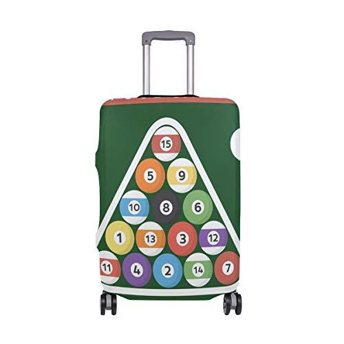 MALPLENA Billard Poster Pool Hall Acht Ball Muster Gepäckschutzkofferabdeckung NUR Abdeckung