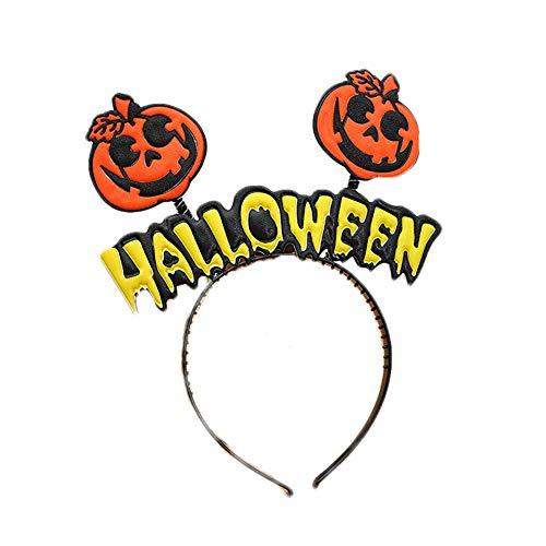 CDKJ Diadema de Calabaza Bruja Diadema de Mascarada Tocado de Halloween Accesorios de Decoración de Halloween