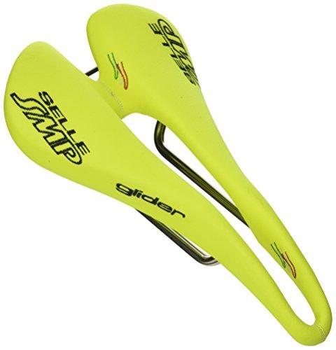 Selle SMP Glider, Sella Bicicletta Corsa Unisex-Adulto, Giallo Fluo Cromato, M