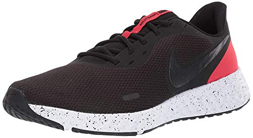 Nike Revolution 5 U, Scarpe da Corsa Uomo, Black Anthracite University Red White, 45.5 EU