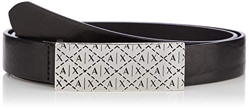 ARMANI EXCHANGE Stud Logo Belt Cintura, (Nero-Black 00020), 6 (Taglia Produttore: X-Large) Donna