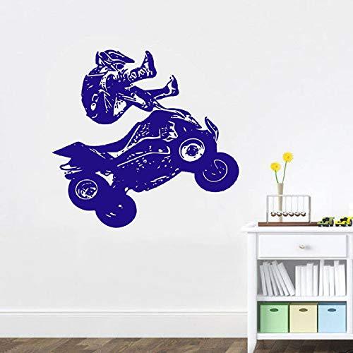 shiyueNB Muursticker Atv Quad Bike Quadrocycle Race Motor Vierwieler Extreme Sport Bike Racing Rider Vinyl Muurstickers Room Decor 60x57 cm Bb