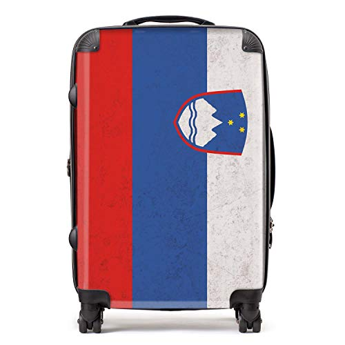 Sloveens/Sloveense vlag koffer met TSA slot 4 spinner wielen bagage 68cm 80Ltr / Zuid-Europese vlaggen